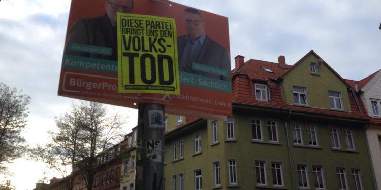 Vandalismus an Wahlplakaten